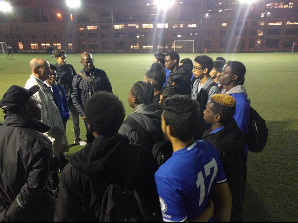 FC Harlem U17 participate in pickup game with UEFA Starts
